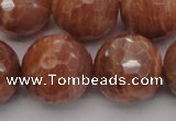 CMS1018 15.5 inches 18mm faceted round AA grade moonstone beads