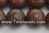 CMS1027 15.5 inches 18mm round AA grade moonstone gemstone beads
