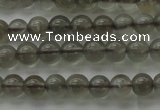 CMS1070 15.5 inches 4mm round grey moonstone beads wholesale