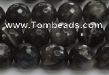 CMS1077 15.5 inches 10mm faceted round grey moonstone beads wholesale