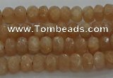 CMS1090 15.5 inches 4*6mm faceted rondelle moonstone beads