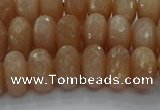 CMS1093 15.5 inches 7*12mm faceted rondelle moonstone beads
