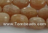 CMS1100 15.5 inches 12*16mm faceted rice moonstone gemstone beads