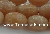 CMS1102 15.5 inches 15*20mm faceted rice moonstone gemstone beads