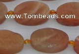 CMS1151 15.5 inches 15*22mm oval moonstone gemstone beads