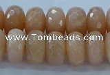 CMS1173 15.5 inches 7*12mm faceted rondelle moonstone beads