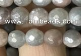CMS1456 15.5 inches 6mm faceted round AB-color moonstone beads