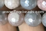 CMS1458 15.5 inches 10mm faceted round AB-color moonstone beads