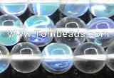 CMS1504 15.5 inches 12mm round synthetic moonstone beads wholesale