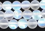CMS1507 15.5 inches 8mm round matte synthetic moonstone beads