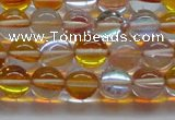 CMS1533 15.5 inches 10mm round synthetic moonstone beads wholesale
