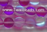 CMS1549 15.5 inches 12mm round matte synthetic moonstone beads