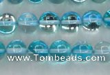 CMS1552 15.5 inches 8mm round synthetic moonstone beads wholesale