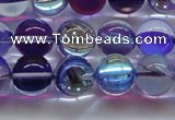 CMS1574 15.5 inches 12mm round synthetic moonstone beads wholesale