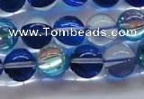 CMS1584 15.5 inches 12mm round synthetic moonstone beads wholesale