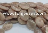 CMS16 15.5 inches 12*16mm oval moonstone gemstone beads wholesale