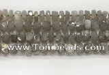 CMS1660 15.5 inches 6*10mm - 8*11mm faceted tyre moonstone beads