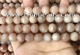 CMS1681 15.5 inches 12mm faceted round moonstone beads wholesale