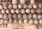 CMS1682 15.5 inches 14mm faceted round moonstone beads wholesale