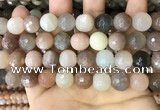 CMS1696 15.5 inches 14mm faceted round rainbow moonstone beads