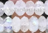 CMS1868 15.5 inches 5*8mm faceted rondelle white moonstone beads