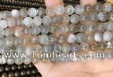CMS1942 15.5 inches 8mm round grey moonstone beads wholesale