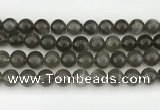 CMS2023 15.5 inches 12mm round black moonstone beads wholesale