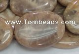 CMS21 15.5 inches 30*40mm oval moonstone gemstone beads wholesale