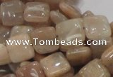 CMS29 15.5 inches 10*10mm square moonstone gemstone beads wholesale