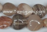 CMS528 15.5 inches 20*20mm heart moonstone beads wholesale