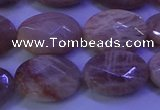 CMS585 15.5 inches 12*16mm faceted oval moonstone gemstone beads