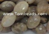 CMS71 15.5 inches 14*18mm faceted rice moonstone gemstone beads