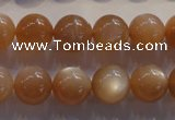 CMS734 15.5 inches 12mm round A grade natural peach moonstone beads