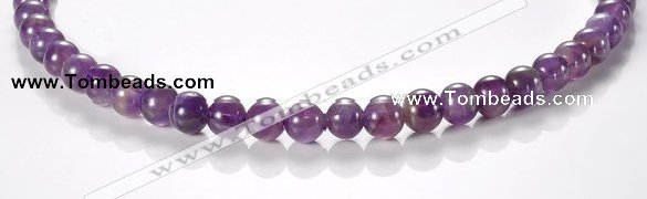 CNA02 8mm round AB grade natural amethyst quartz beads Wholesale