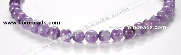 CNA03 10mm round AB grade natural amethyst quartz bead Wholesale