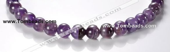 CNA04 AB grade 12mm round natural amethyst quartz bead Wholesale