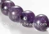 CNA05 AB grade 14mm round natural amethyst quartz bead Wholesale