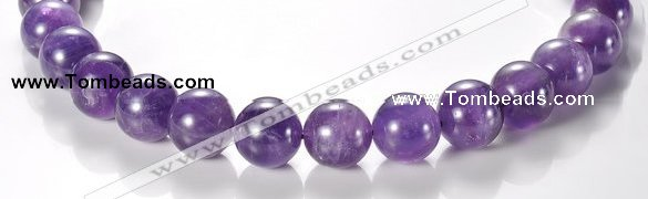 CNA06 AB grade natural amethyst 16mm round quartz bead Wholesale