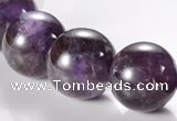 CNA07 AB grade natural amethyst 18mm round quartz bead Wholesale