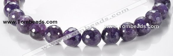 CNA09 16mm faceted round A- grade natural amethyst quartz beads