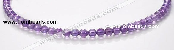 CNA10 6mm round A+ grade natural amethyst quartz beads Wholesale