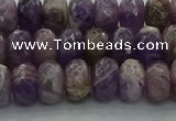 CNA1030 15.5 inches 6*10mm faceted rondelle dogtooth amethyst beads