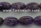 CNA1037 15.5 inches 10*14mm oval dogtooth amethyst beads wholesale