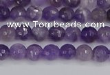 CNA1070 15.5 inches 4mm faceted round dogtooth amethyst beads