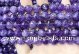CNA1115 15.5 inches 10mm faceted round amethyst gemstone beads