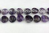 CNA1191 15.5 inches 20*20mm heart amethyst beads wholesale