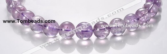 CNA12 15mm round A- grade natural amethyst beads Wholesale