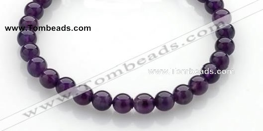 CNA13 15 inch 6mm round natural amethyst quartz beads Wholesale