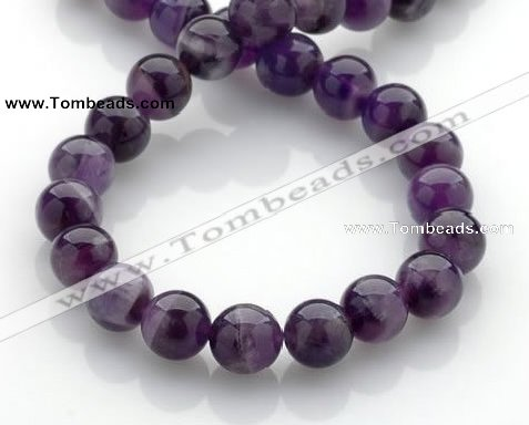CNA15 15 inch 12mm round natural amethyst quartz beads Wholesale