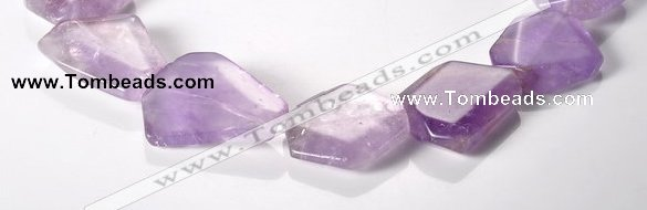 CNA16 15*27mm freeform A- grade natural amethyst beads Wholesale